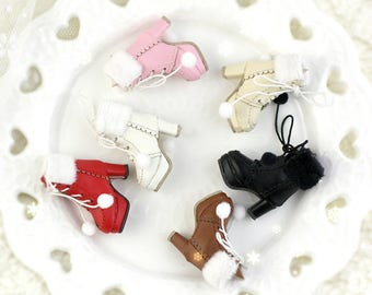 High Heels Snow Boots shoes for Blythe/DAL/Pullip/Azone/momoko/Jerryberry/Licca