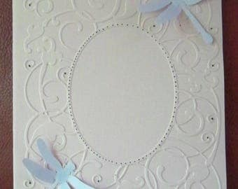 SCRAPBOOKING card embossed Dragonfly No. 2 color choice