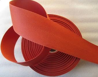 flexible 5 cm rust brown cotton webbing