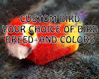 Custom Felted Bird