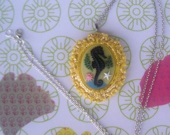 SEAHORSE NECKLACE, and glitter... *.