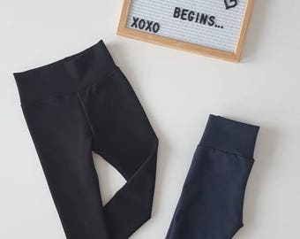 Black Jeggings / Navy Jeggings / Leggings / Baby Clothes / Kid Clothes / Toddler Clothes / Baby Leggings / Toddler Leggings / Pants/ Joggers
