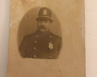 Outstanding early Philadelphia police officer cop photograph 1880s