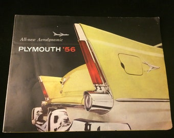 Original Mid century Plymouth '56 dealer literature