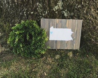 Hand Made State Love Wood Sign