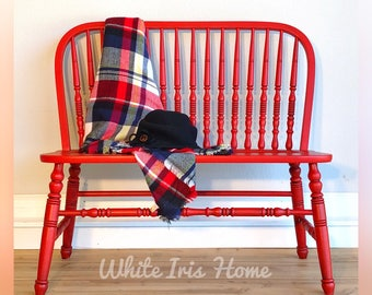 RED ENTRYWAY BENCH (sold)