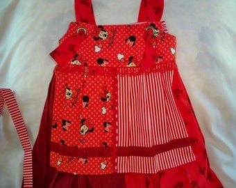 Minnie mouse girls handmade outfit