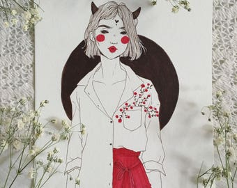 Valentine's Demon No. 4 (Original Artwork)