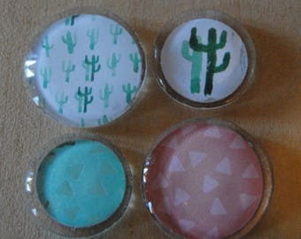Mixed Cactus Magnets