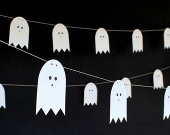 Package of 3 Halloween Ghost Garlands - Oh Goodness Paper Co