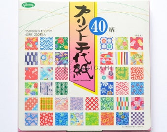 Japanese patterned origami paper