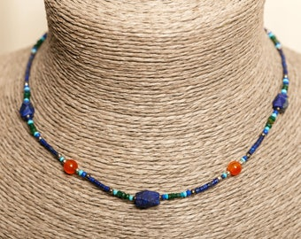 Carnelian and Lapis Lazuli necklace