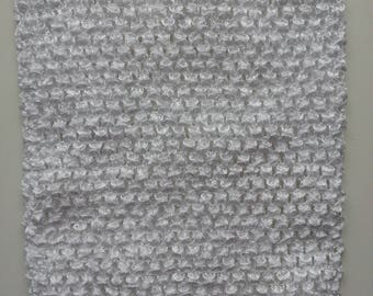 22 cm * 25 cm  bustier tube crochet blanc