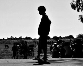 """Photography black and white: """"Wandering"""" - Morondave, MADAGASCAR - 2015"""