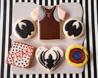 Set of 6 BATTLESTAR GALACTICA Themed Cookies