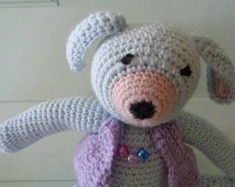 Soft colors crochet blanket