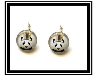 "Earrings ""Panda Indian"" tropical, tropical, pineapple, Flamingo, personalized thank you gift, boho chic"