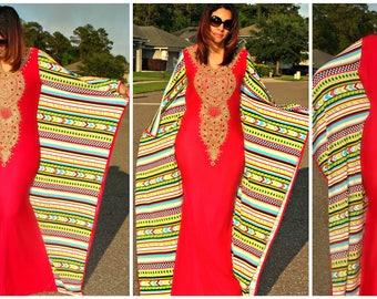 Bella Butterfly  Kaftan dress/ Kaft/ Abaya/spandex