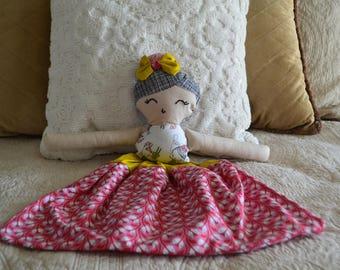 Heirloom Doll Handmade Doll Fabric Doll Rag Doll Pajama Bag Doll Girls Knapsack