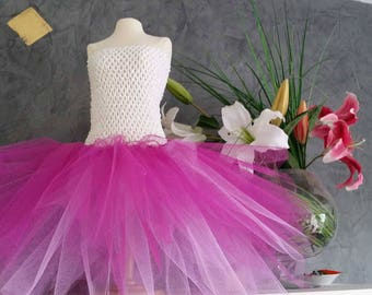 Hook and pink tulle tutu dress