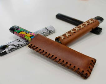 """Leather Cover """"BO VAPING"""""""