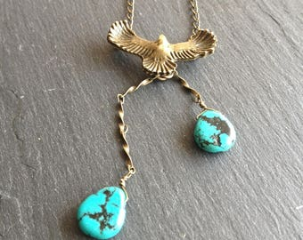 genuine turquoise Eagle necklace