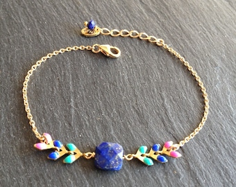 colorful bracelet lapis lazuli