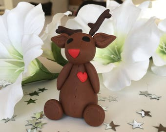 Rudolph the red nosed reindeer Christmas figure