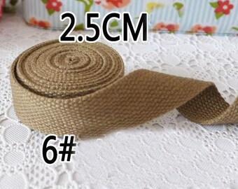 Strap cotton 2.5 cm wide No. 6