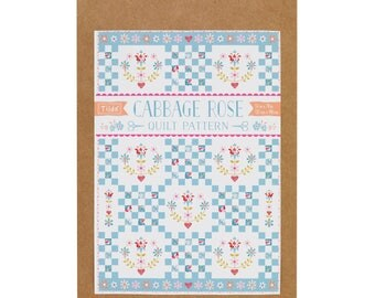 Plaid Tilda Cabbage Rose pattern