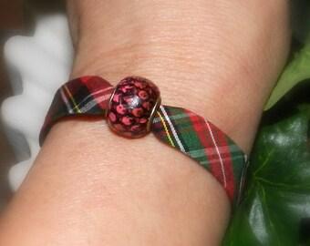 Red Plaid fashion bracelet