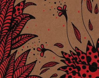 """""""Red flowers"""" - """"Red flowers"""" sketchbook notebook"""