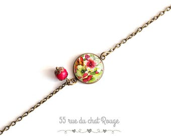 Bracelet chains, exotic, tropical flowers, hawaii, hibiscus flower