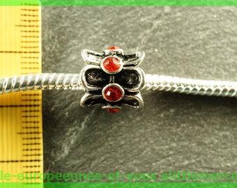 Pearl European 401 rhinestone spacer for bracelet charms