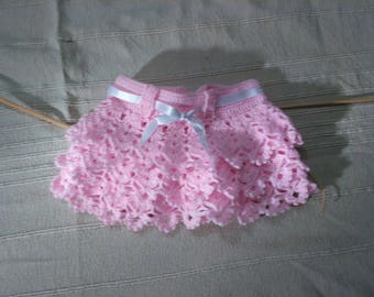 Pink skirt with many ruffles for baby