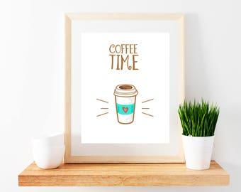 Coffee Time Printable Poster