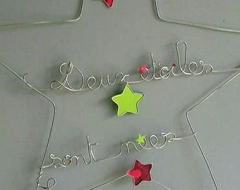 "Star ""message"" decorative aluminium wire"