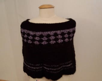 knitted set, handmade, skirt and vest - size 36/38