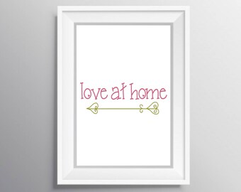 Love at home print, LDS printable