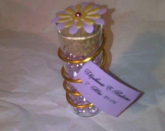 Souvenir invited wedding test tube