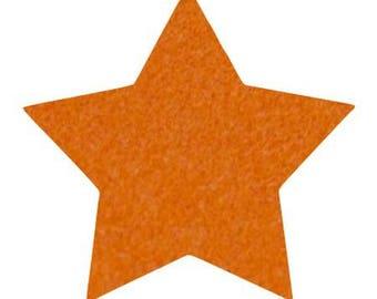 Star pattern fusible 7.5 x 7.1 cm orange Velvet