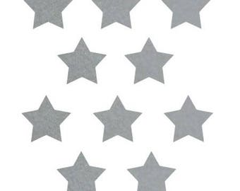 10 stars hot-melt Grey Velvet 15x15mm