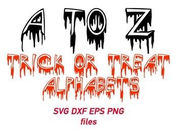 halloween font svg, halloween letters, halloween alphabet, trick or treat font, decal, font cut files, stencil, vector, monogram