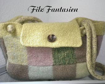 Felted bag, shopper, handbag, bag, shoulder bag, shoulder bags, knitted and felted