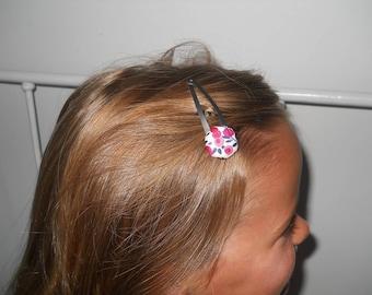 Hair clip - Clack size unique 5cm, liberty wiltshire Red