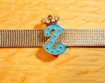 Pearl Crown busy blue rhinestones the alphabet for bracelet