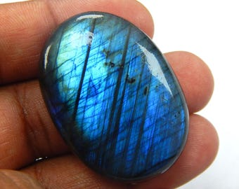 On Shop  Sale 112.30 ct Natural Labradorite loose gemstone Oval shape 30x42 mm Blue Fire Labradorite on wholesale price