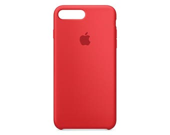 Apple case MMQV2ZM/A iPhone 7 plus silicone case red
