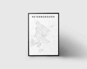 Peterborough Map Print