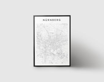 Nürnberg Map Print
